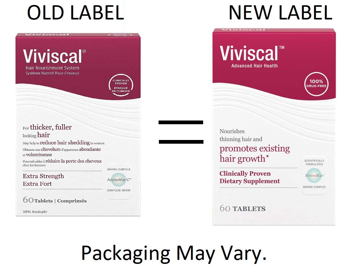Viviscal Maximum Strength Hair Nutrient Tablets 2 BXS of 60 by Viviscal (Image #1)