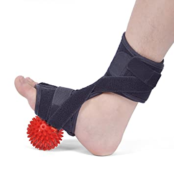 d69d4eecaf Drop Foot Orthotic Brace, Adjustable Plantar Fasciitis Dorsal Night Splint  for Heel Pain Relief with