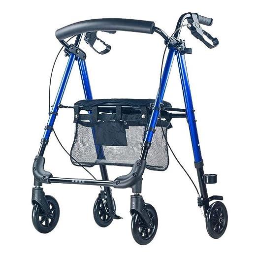LBSX Andador de Aluminio Estabilidad Freno con Carrito Azul ...