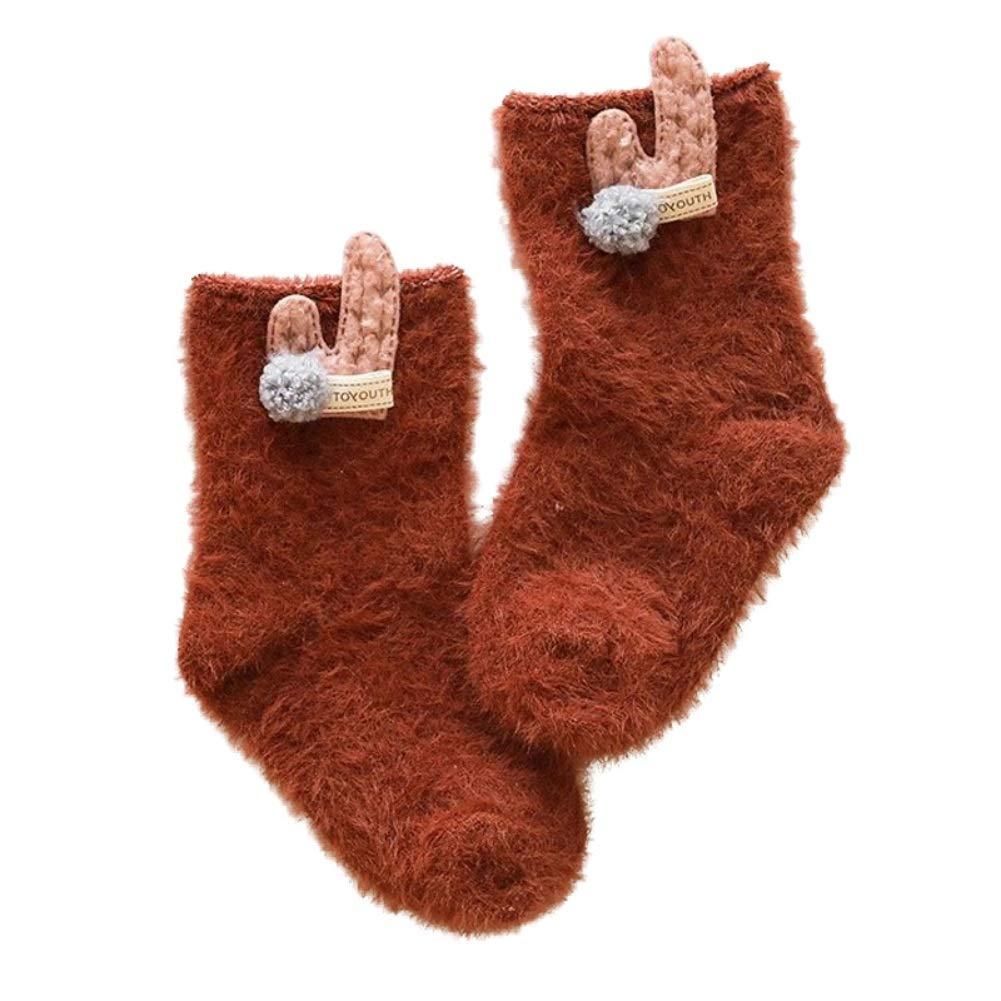 ELINKMALL Infant Baby Girl Winter Fleece Warm Cartoon Socks