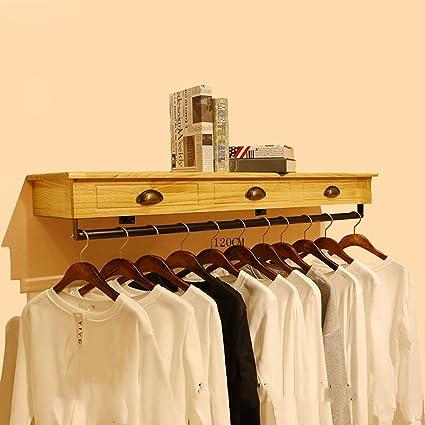 Amazoncom Gjm Shop Woodiron Store Clothes Rackdisplay Standwall