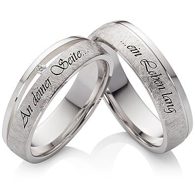 2 Titan Ringe Trauringe Eheringe Verlobungsringe mit Aussenlasergravur