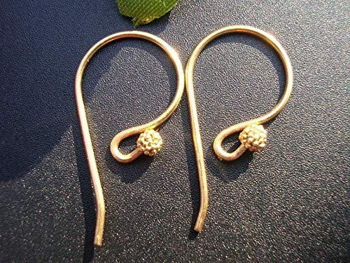 Bulk 6 Pairs - Gold Vermeil Fancy French Earwire with Cluster Beads - EW-0010