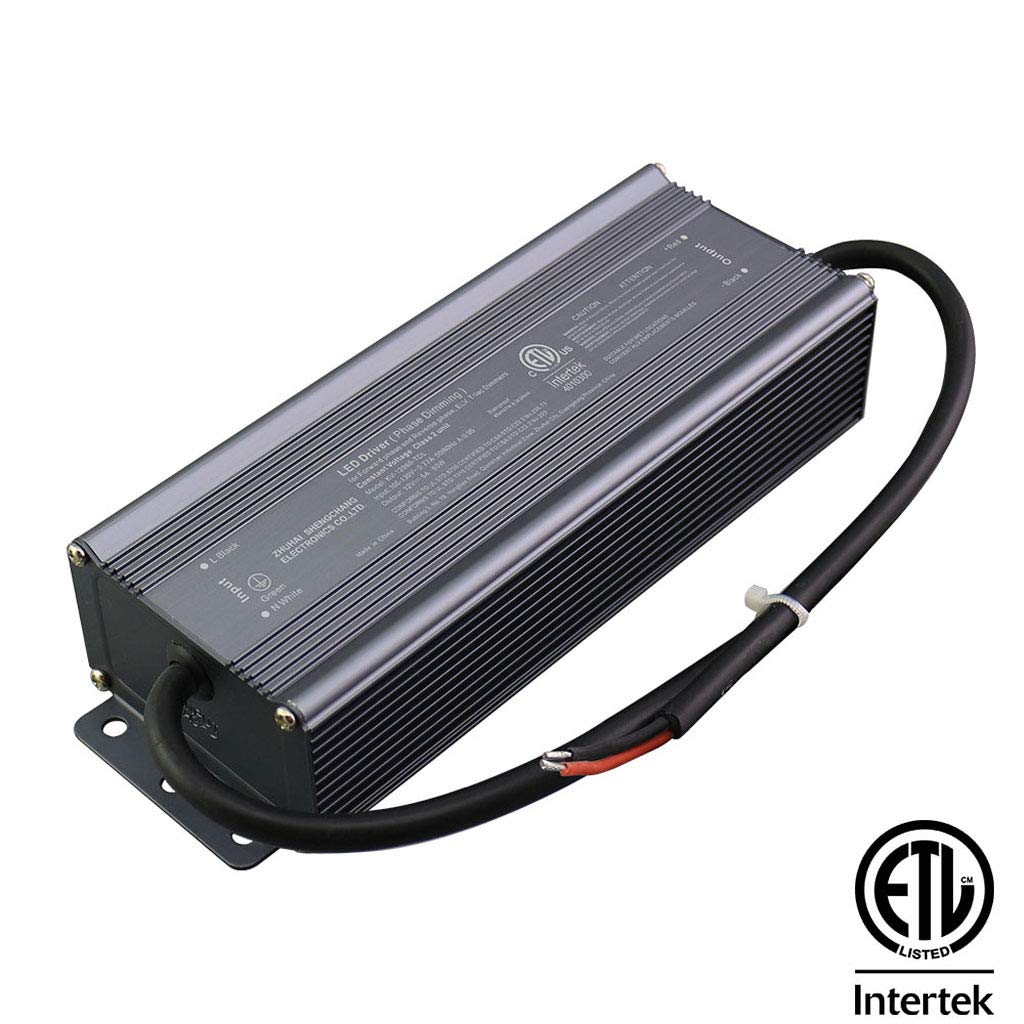 CATIYA 24V 60W LED Driver Phase Dimming, ETL Listed Class 2 Unit Constant Voltage Transformer, for Forward Phase and Reverse Phase, ELV, Triac Dimmers by CATIYA