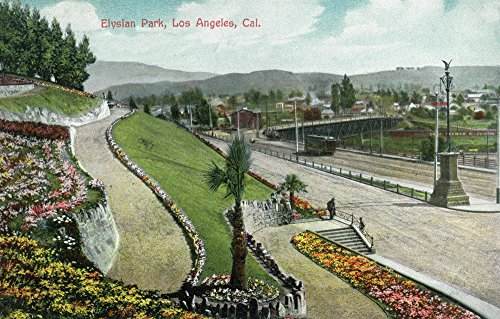 Los Angeles, California - Scenic View in Elysian Park (Signed Print Master Art Print - Wall Decor Poster)