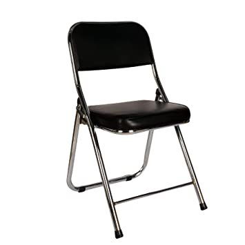 Surprising Cosy7 Kiera Collection Deluxe Padded Faux Leather Folding Chairs Black Set Of 6 Strong Steel Frame Comfy Cushioned Seat Foldable Easy Store Away Pabps2019 Chair Design Images Pabps2019Com