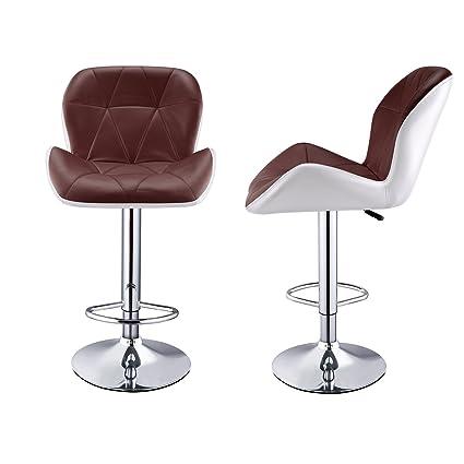 amazon com flagup modern adjustable synthetic leather swivel