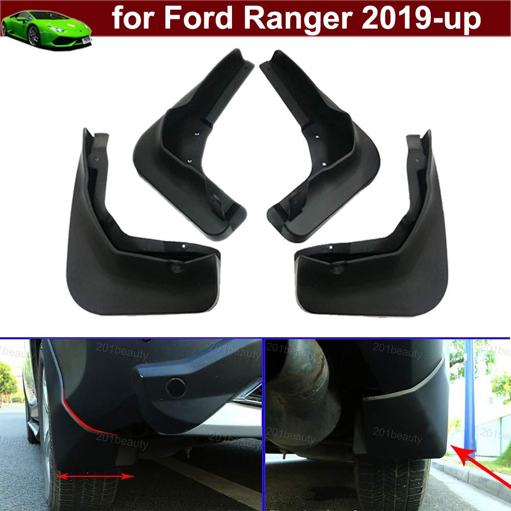 Noir 2020 Lot de 4 bavettes garde-boue avant et arri/ère pour Ranger 2019