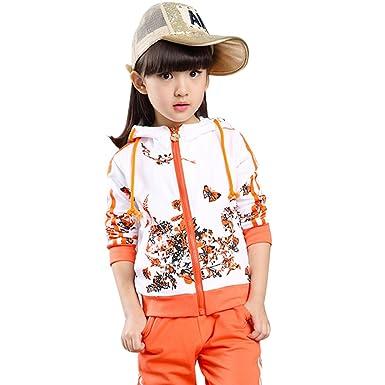 VERYCO - Chándal - para niña Multicolor Naranja 4-5 Años: Amazon ...