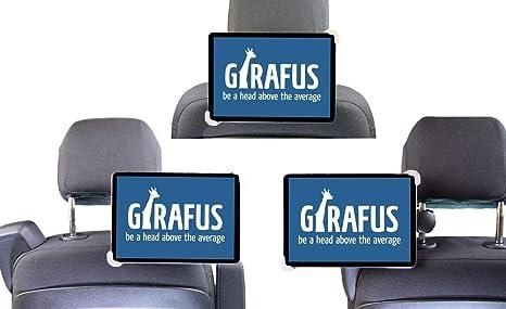 Girafus soporte de reposacabezas del vehículo rotativo 7-10.5 tabletas desde el asiento