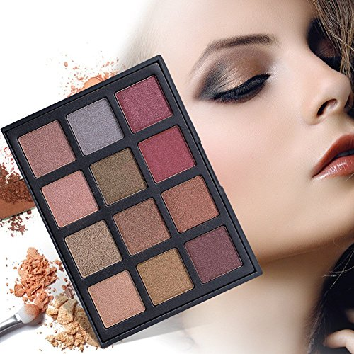 DONGXIUB Smoky Eyes 12 Color Eyeshadow Palette Shimmer Matte