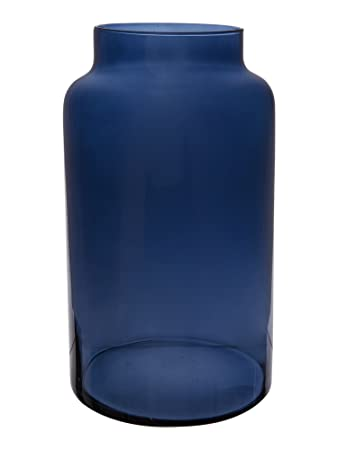 Linea Navy Glass Large Vase Amazon Kitchen Home