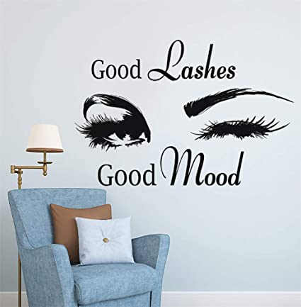 Amazon Com Howdonx Wall Art Stickers Quotes And Sayings Lashes