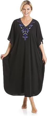 La Marquise ropa de dormir de poliéster / algodón bordado Kaftan Tumbona Un tamaño