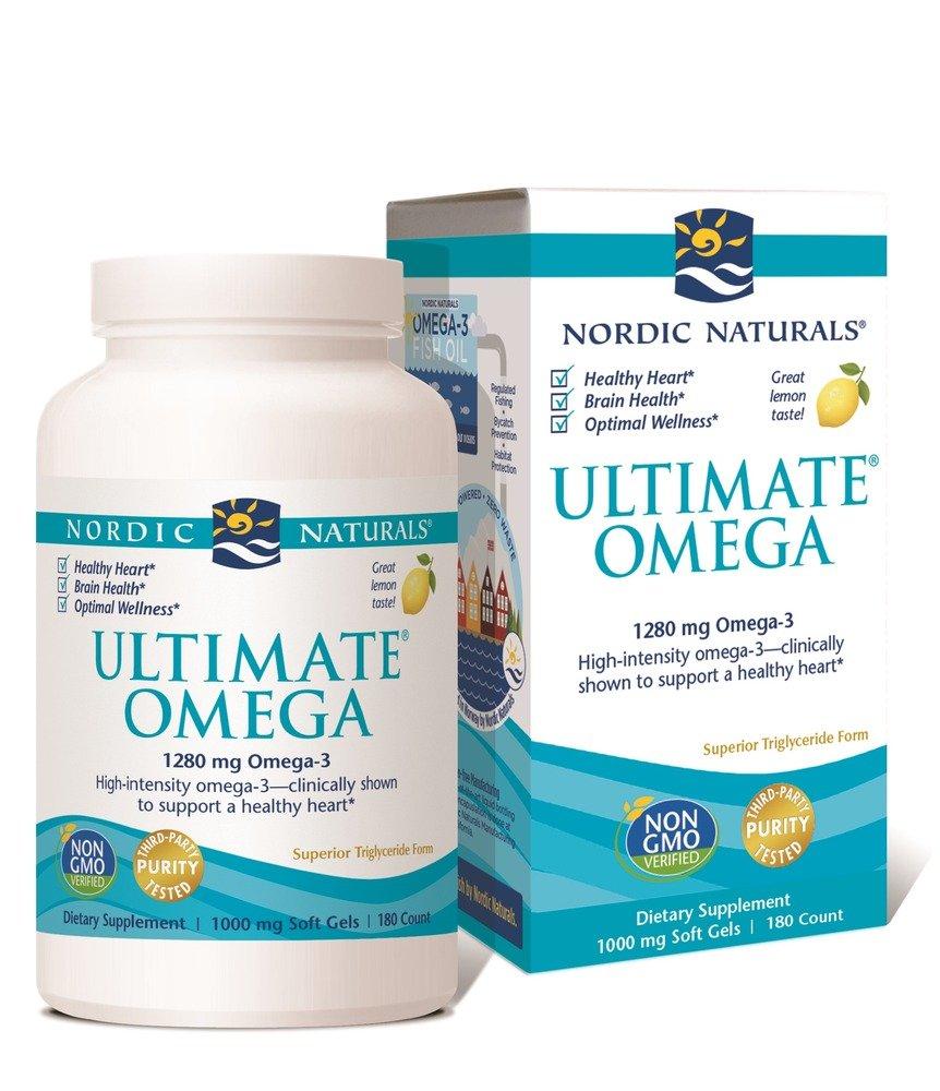 Ultimate Omega Softgel-Lemon Nordic Naturals 180 Softgel
