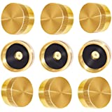 Joywayus 9Pcs Solid Brass Refill Propane Bottle Cap Universal for All 1 LB Gas Tank Cylinder Sealed Protect Cap …