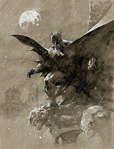 Jim Batman Lee Art (Jim Lee Batman Over San Prospero Warner Brothers Studio DC Comics)