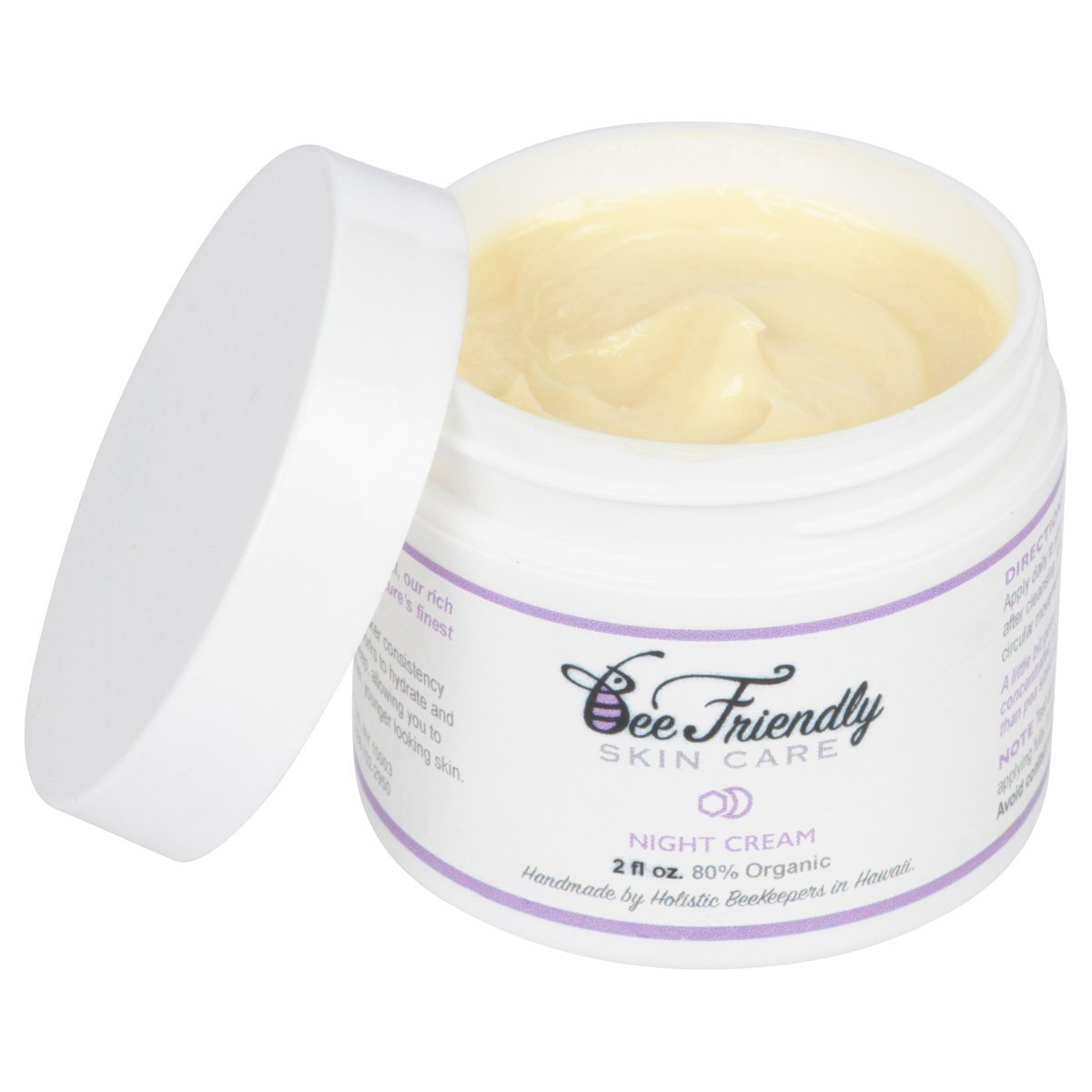 Best Night Cream 100% All Natural & 80% Organic Night Cream By BeeFriendly, Anti Wrinkle, Anti Aging, Deep Hydrating & Moisturizing Night Time Eye, Face, Neck & Decollete Cream for Men and Women
