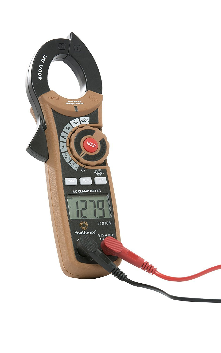 Southwire Tools & Equipment 21010N 400A Digital Clamp Meter, Multimeter with Voltage, AC Current, Resistance, and Capacitance Tests by Southwire