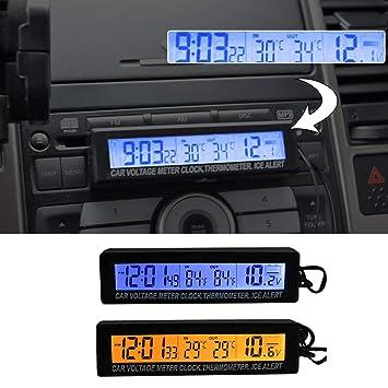 Amazon.es: SUNWAN - Reloj Digital Universal para salpicadero ...