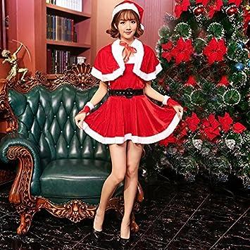 e297152dd64 S&C Live クリスマスコスプレ衣装 レディース ケープ付サンタワンピースドレス5点セット ペアトップ