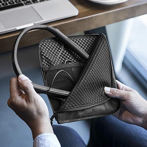 tomtoc - Funda de Viaje para Auriculares Bose QuietControl 30 con cancelación de Ruido, inalámbricos, Auriculares in-Ear, inalámbricos, para el Cuello y ...