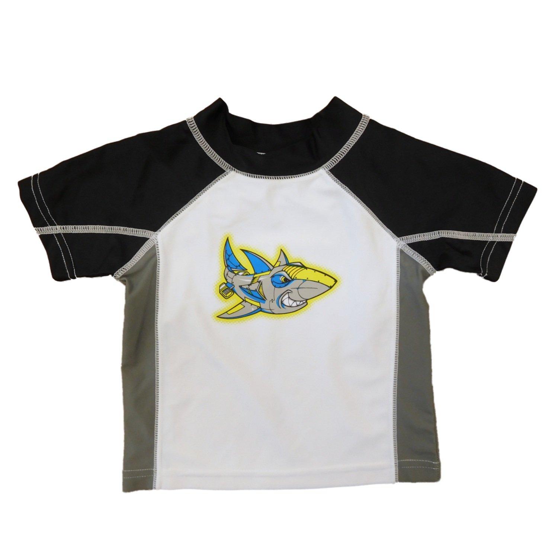 Infant /& Toddler Boys Robot Shark Rash Guard Swim Shirt