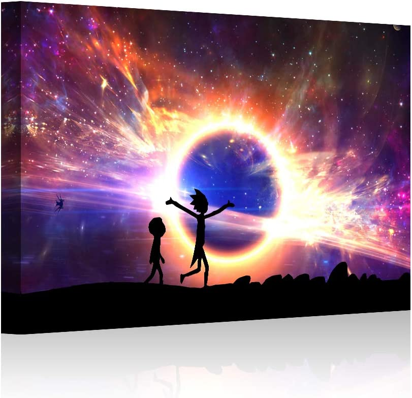 HAOSHUNDA HSD Wall Art Rick and Morty Posters On Canvas Oil Painting Posters and Prints Decorations Wall Art Picture Living Room Wall Ready to Hang 12