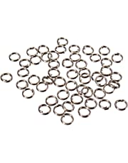 Yosoo 6mm 200 pcs Nickel Plated Split Rings for Blank Lures Crankbait Hard Bait Each Pack Bass Walleye Fishing