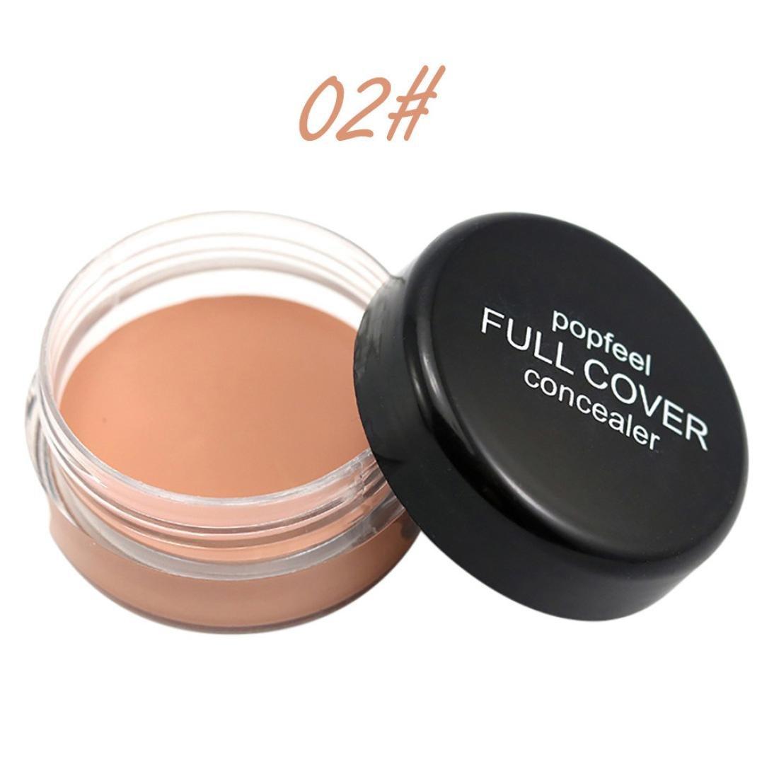 Long-lasting Waterproof Concealer XUANOU Face Makeup Concealer Foundation Palette Creamy Moisturizing Powder (02#)