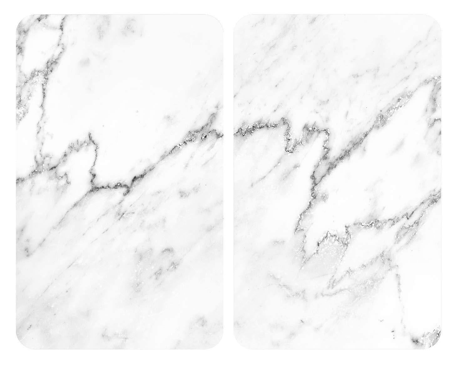 8-5 30 x 52 x 1 Juego de 2 Unidades Cristal Templado Wenko 53895100-Protector de Placa Universal m/ármol 30 x 52 cm 5 cm