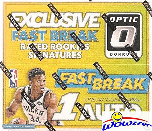 2017/18 Panini Donruss OPTIC NBA Basketball FAST BREAK Factory Sealed Box with AUTOGRAPH & 18 INSERTS/PARALLELS! Look for RC's & AUTOGRAPHS of Donovan Mitchell, Jayson Tatum Lonzo Ball & More! ()