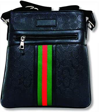 Cross-body bag, leather black color, imported high quality product