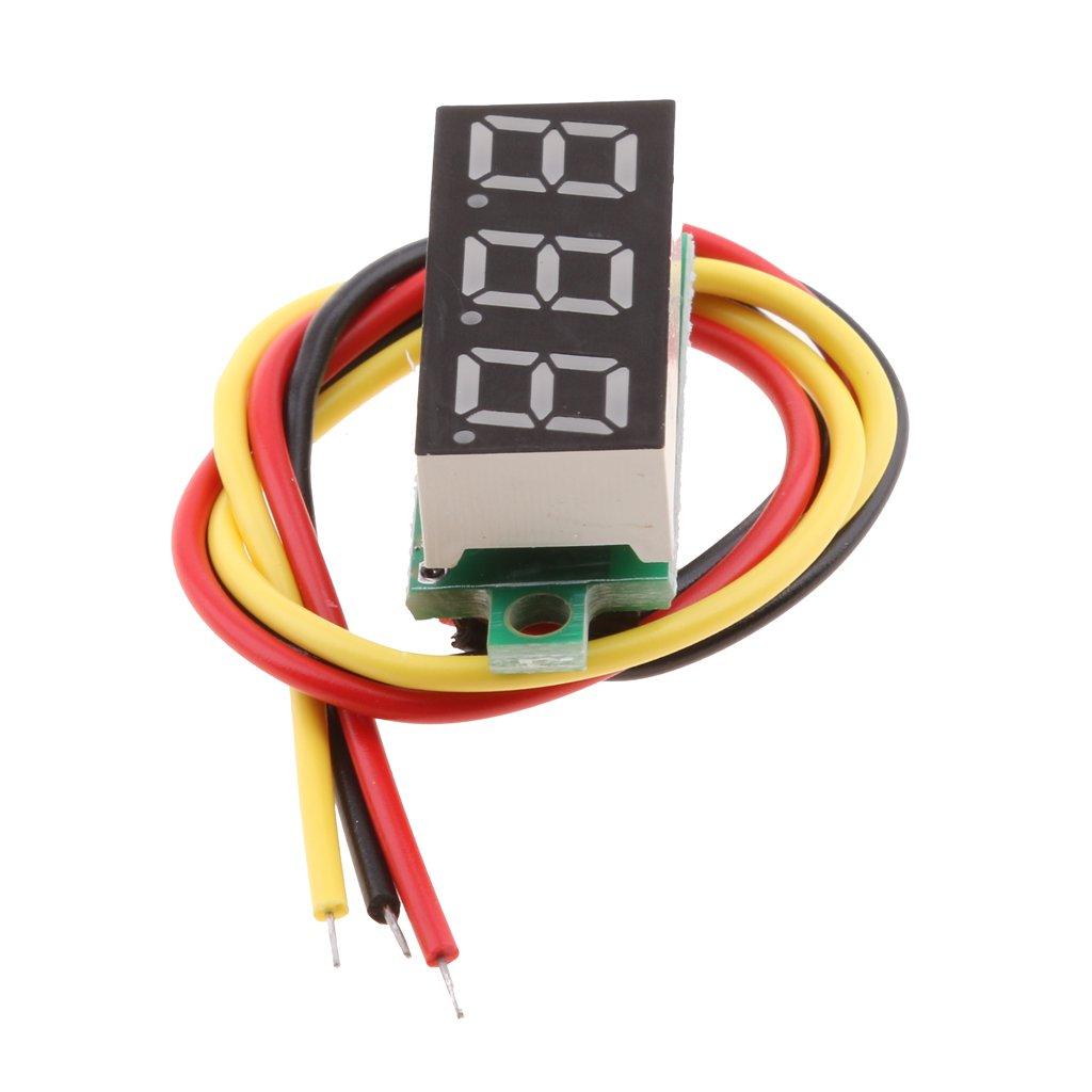 perfk Mini LED Numé rique 0.28 inch Voltmè tre Outil de Testeur De Tension Meter - Bleu 7eb917f1db069b23bff8609aca9d8cd0