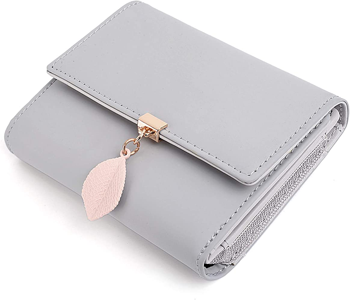 Mini Ladies Wallet Coin Purse Card Holder Charm Pouch solid color ZB