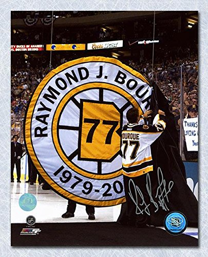 (Ray Bourque Signed Photo - Retirement Night 16x20 - Autographed NHL Photos)