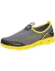 01aa1519e Pareja de Hombres al Aire Libre de Malla Hueca Zapatos Deportivos Casuales  Correr Zapatos Transpirables Zapatillas
