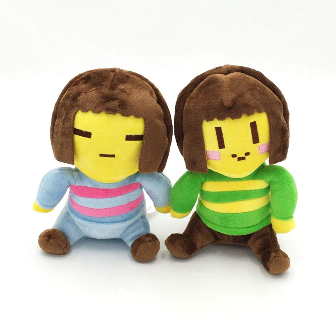 Helen-sky Undertale Frisk and Chara Plush Doll Soft Stuffed Toy Gift for Kids (2 Plush Toy) by Helen-sky