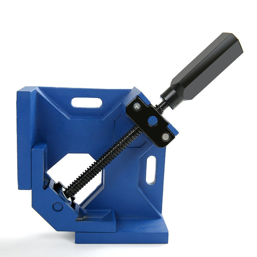 Right Angle Clamp 90 Degree Single Handle with Carpentry Photo Frame Aquarium (Bule)