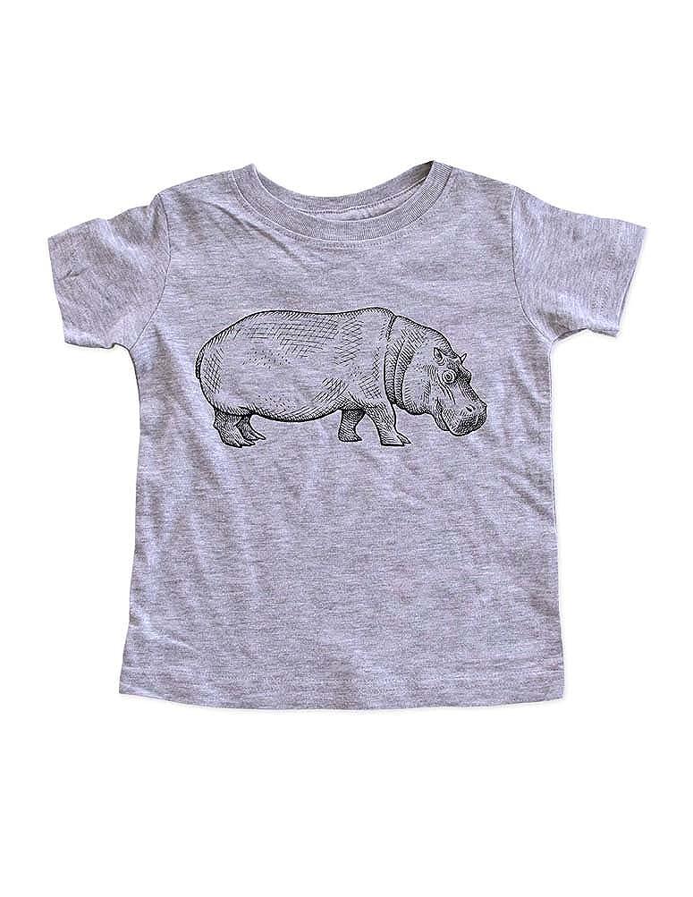 Hello Handmade Hippo Hippopotamus Graphic Zoo Animal Kids Infant Toddler Shirt