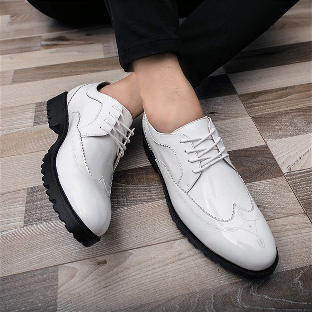 MXL Mens Fashion Oxford Casual Comfortable Outsole Retro Wipe Ribbon Brogue Shoes Driving Shoes
