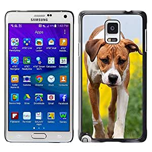 Hot Style Cell Phone PC Hard Case Cover // M99999898 Dog Puppy Pattern // Samsung Galaxy Note 4 IV