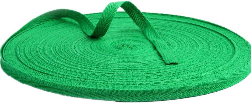 50 Meter Baumwollband Fischgr/äten-Webband Stoff Tapisserie f/ür Schr/ägband Geschenkverpackungen Verzierungen Basteln Breite 10 mm Christmas Green 10mm x 50meters