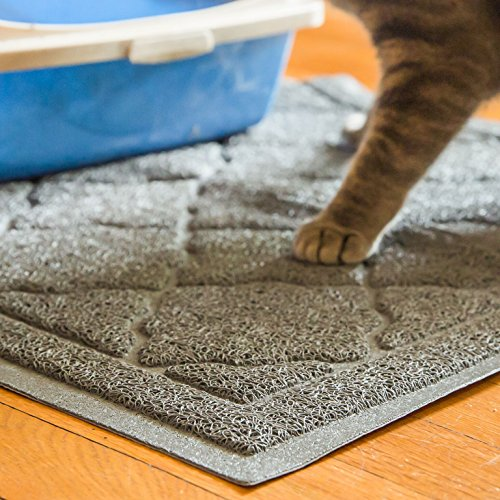 Easyology Extra Large 35'' x 23'' Cat Litter Mat, Traps Messes, Easy Clean, Durable, Non Toxic - LIGHT GREY by Easyology (Image #6)