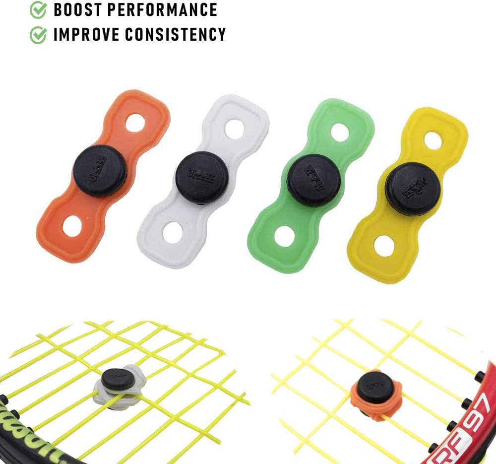 Assorted Colors Tennis Button Vibration Dampener Set of 4 and 10 - Durable /& Long-Lasting- Great for Tennis Players Premium Quality Shock Absorber for Tennis Racket and Strings