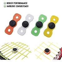 Juego de 4 y 10 amortiguadores de vibraciones para raqueta de tenis y cuerdas (colores surtidos), duradero y de larga duración, ideal para jugadores de tenis
