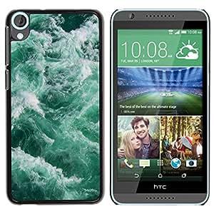 Paccase / SLIM PC / Aliminium Casa Carcasa Funda Case Cover para - Waves Sea Foam Teal Green Water - HTC Desire 820