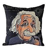ME COO Blend Cartoon Albert Einstein Vincent Willem Van Gogh Hans Christian Andersen Johann Sebastian Bach Pillow Case No Core 18 Inches18 Inches 1 Pcs (ME-BZXX-1)