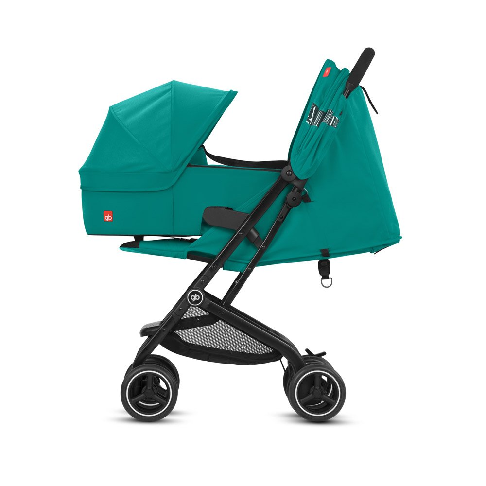 gb 2018 Buggy QBIT+ incl. Carrycot Cot to Go ''Laguna Blue'' - from birth up to 17 kg (approx. 4 years) - GoodBaby QBIT PLUS by gb (Image #2)