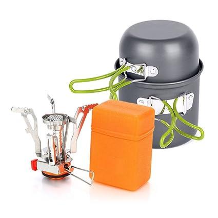 lokep Picnic Utensilios De Cocina Set de cocina de camping de aleación de aluminio al aire ...